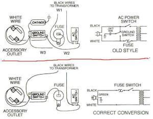 Fender amp AC cord conversion