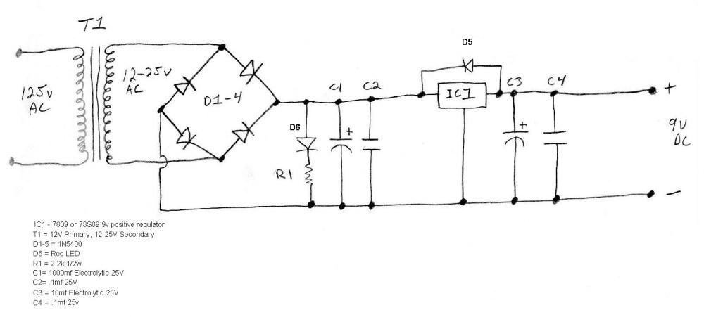 medium resolution of my power supply schematic regis s pedalboard 9v