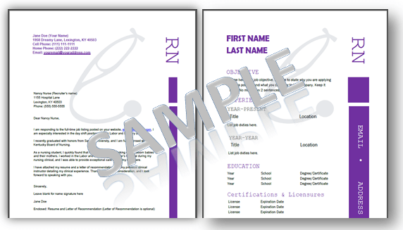Nursing Resume Templates Plus an eBook Job Guide for Nurses