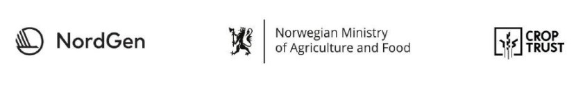 Logoer: NorGen, Ministry of Agriculture and Food, CropTrust.
