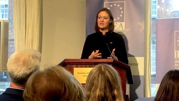 Minister of EEA and EU Affairs Marit Berger Røsland at IIEA