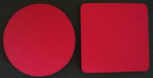 Blank Red Coasters
