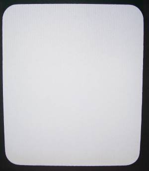 Blank White Mouse Pads on Black Rubber Base