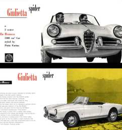 alpha romeo giulietta spider 1957 a two seater alfa romeo 1300 cm car styled by pinin farina  [ 1056 x 1027 Pixel ]