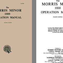Morris Minor 1000 Wiring Diagram Evolution Branching Tree 1958 The Operation Manual