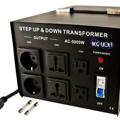 Step Down Transformer Diagram Vr6 Coil Pack Wiring Regvolt Ac 5000 Up Voltage Converter
