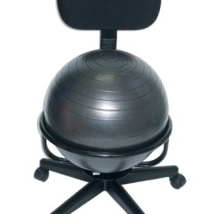 Balance Ball Office Chair Reviews On Dental Metal Exercise Base With Backrest