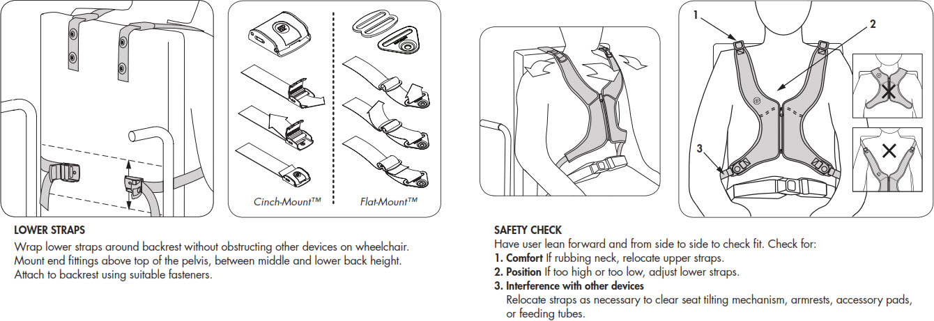 Bodypoint Stayflex Rear-Pull Wheelchair Harnesses
