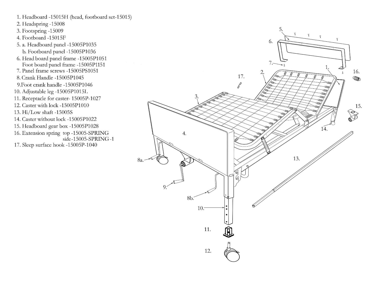 Drive Medical Multi-Height Manual Hospital Bed