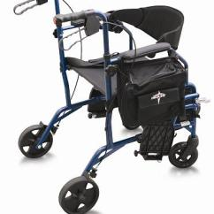 Walker Chair Combo Eames Aluminum Group Medline Excel Translator Transport And Rollator