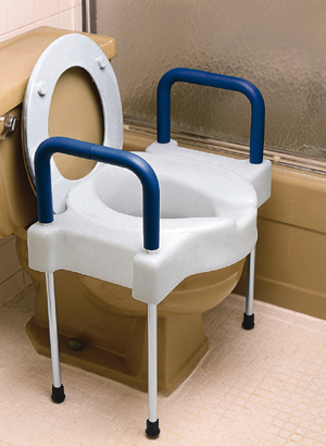ExtraWide TallEtte Elevated Toilet Seat with Legs