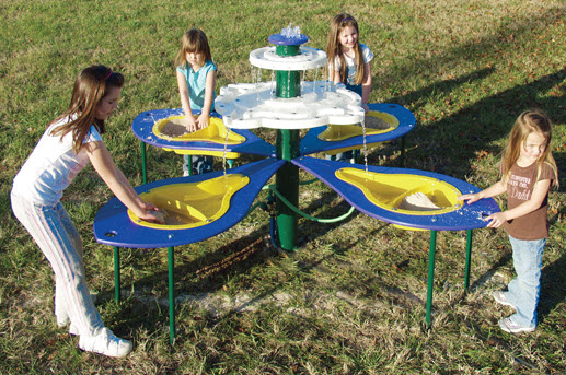 Tot Town Sand and Water Play Fountain