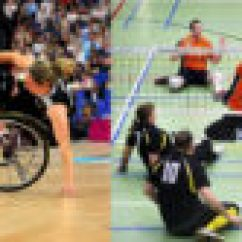 Wheelchair Volleyball American Girl High Chair Practiced Inclusion Basketball And Sitting Photo Star Annika Zeyen Copyright The Mixed