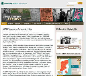 MSU Vietnam Group Archive