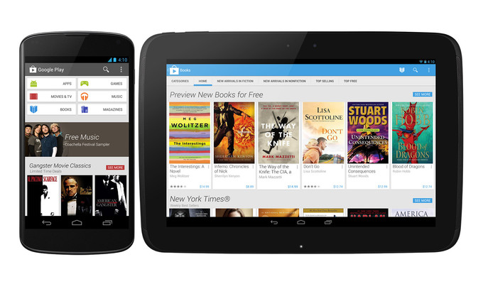 Google Play 4,0  sui telefoni e tablet
