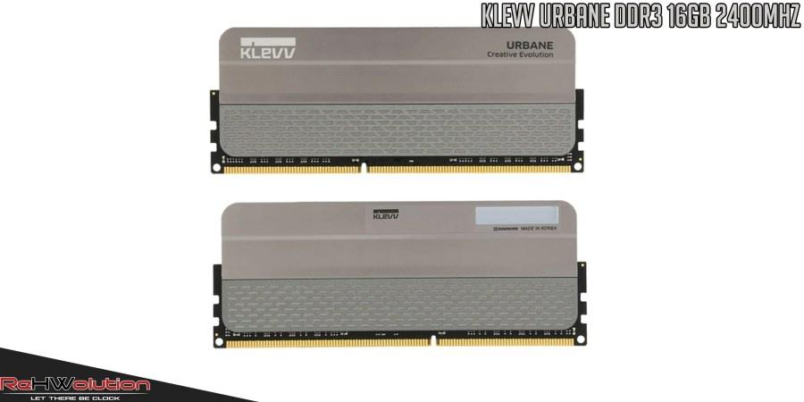 KLEVV URBANE DDR3 16GB 2400MHz   Recensione