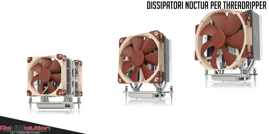 Dissipatori Noctua per Threadripper – NH-U9, NH-U12S e NH-U14S TR4-SP3