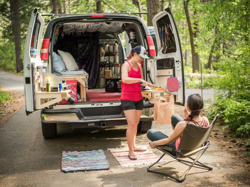 medium resolution of diy van life build your own kitchen and storage