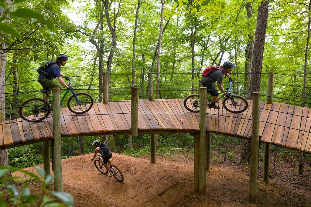 Mountain bikers at Fire Mountain