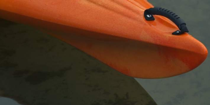 a detail of a kayak's material