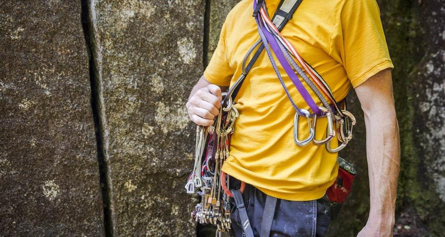 climbing rack basics building a trad