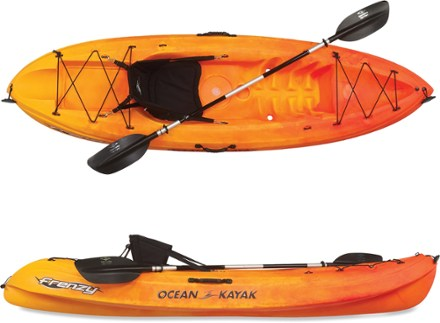 Kayak Paddle Across Top
