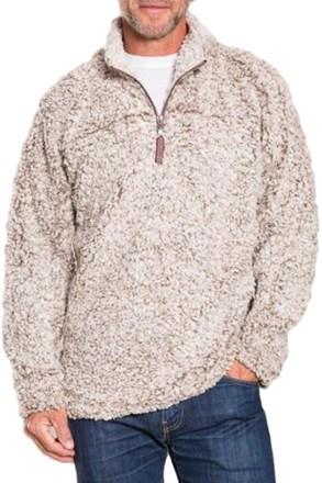 True Grit Frosty Tipped Pile QuarterZip Fleece Pullover