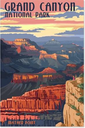 Lantern Press Grand Canyon National Park Mather Canyon Art
