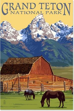 Lantern Press Grand Teton National Park Art Print  12 x