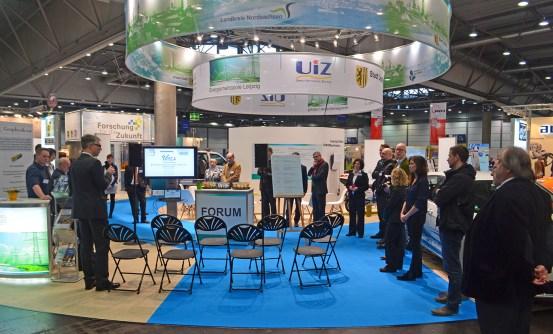 Standeröffnung Gemeinschaftsstand der Wirtschaftförderung Leipzig und Partnerämtern sowie 22 Mitgliedsunternehmen des Netzwerk Energie und Umwelt (NEU e. V.) enertec / Terratec 2015