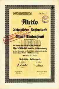 Anhaltische Kohlenwerke 1921 Halle Saale Frose Merseburg ...