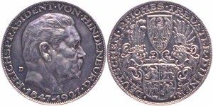 Hindenburg Medallion by Karl X. Goetz, 1927