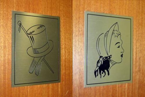 Imagens de banheiros masculinos e femininos engraçados