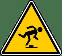 Trip Hazard accident sign