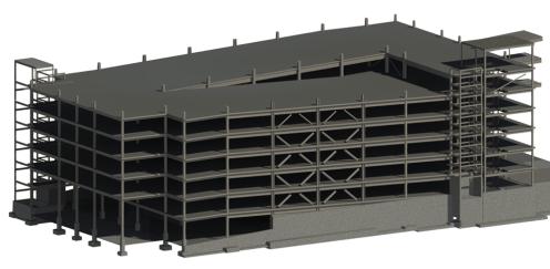 Structural Steel Garage 3D Model