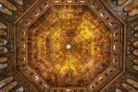 The Baptistry and its Gates of Paradise in Florence, Italy