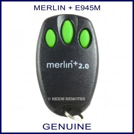 Merlin  20  E945M  3 green button garage door remote