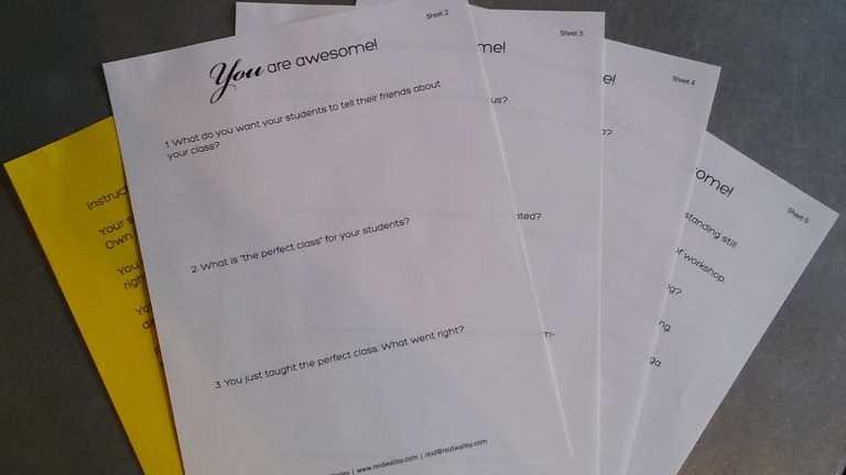 P2O Hot Pilates - Confidence Workshop Worksheet Packet