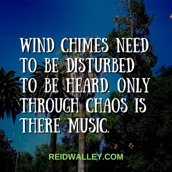 Wind Chimes - Poem and Photo © 2017 Reid Walley