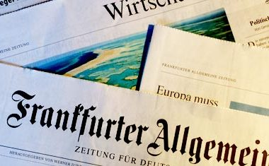 F.A.Z. dünnt mit neuer Blattstruktur aus. Verkaufte Auflage bei 329.705 Exemplaren
