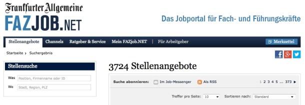 ONline-Stellenmarkt der F.A.Z.