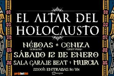 El Altar del Holocausto + Néboas + Ceniza, Garaje Beat Club, (Murcia) (12/01/2019) - Reigns The Chaos