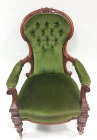 Antique Victorian Upholstered Gentlemans Chair  Reilly ...