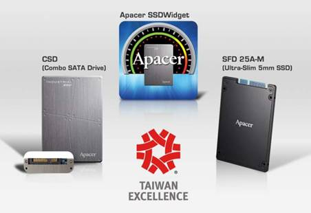 Apacer, the Only Industrial SSD Manufacturer Winning the 22nd Taiwan Excellence Award