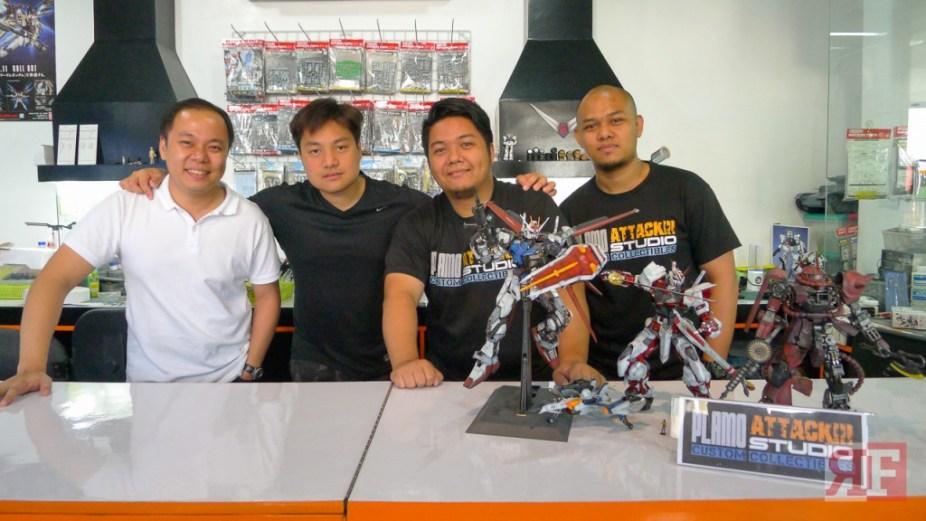 The Plamo Attack Studio team L to R: Shandy Say, Carlo Co, Roginald Samala, Simoun Nuque