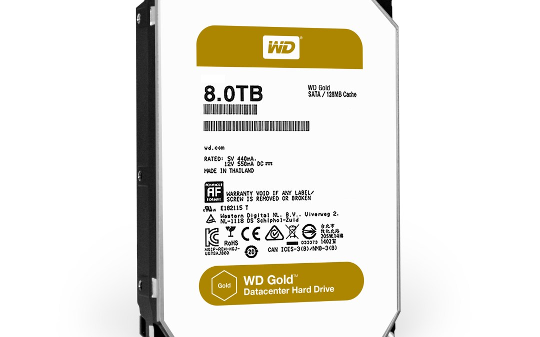 Western Digital Releases the New WD Gold Hard Drives
