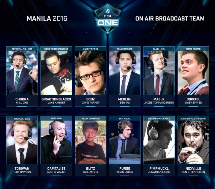 esl one manila announcers