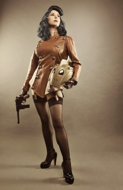 riki lecotey as the rocketeer