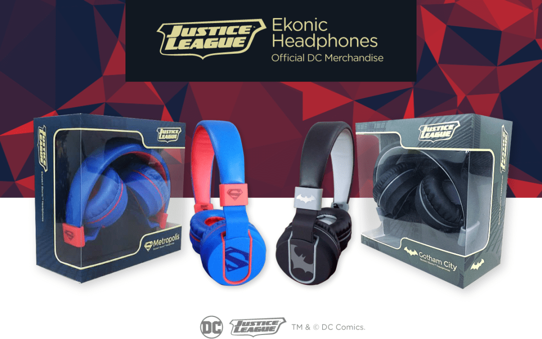 Check out Ekonic's Justice League themed Headphones