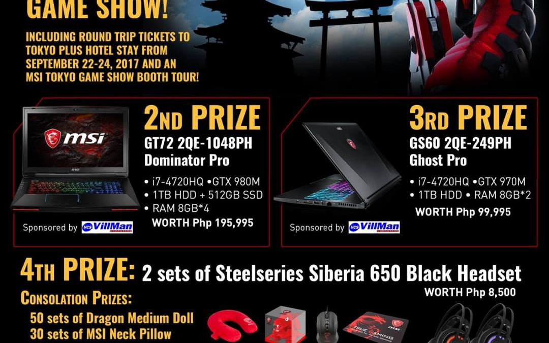 Get A Chance to Win Tickets to Tokyo Game Show 2017 with MSI's Dragon Army Promo